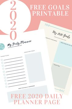 How to Achieve Your New Year's Goals - New Years Resolutions 2020 - Free Printable
