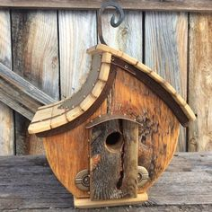 Unique Barnwood Birdhouse reclaimed recycled by CampbellWoodworks