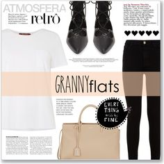 Cute Trend: Granny Flats by fernandamaverick on Polyvore featuring polyvore, fashion, style, MaxMara, 7 For All Mankind, Topshop, Yves Saint Laurent, clothing, YSL and topshop