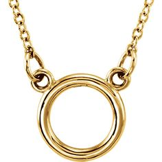 "Hottest Trends this Season! 14kt Yellow Tiny Posh Circle 18"" Necklace"