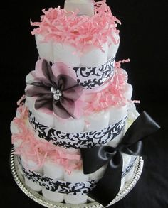 Design idea for the next time I make a diaper cake.