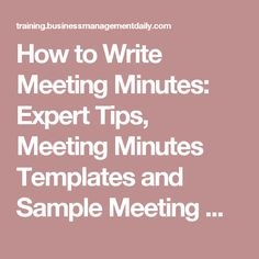 how to take meeting minutes template