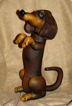 Шитьё Такса - шоколадка Ткань фото 1