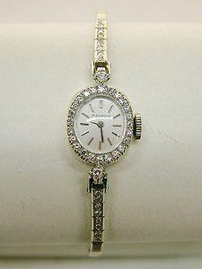 Beautiful Vintage Movado 14k White Gold Diamonds 17J Womens Watch Runs Well   eBay