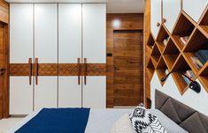 Zanzmera's Residence - Pavan Infratech Bedroom Cupboard Designs, Bedroom Closet Design, Bedroom Furniture Design, Modern Bedroom Design, Small Room Bedroom, Living Room Designs, Living Rooms, Wall Wardrobe Design, Wardrobe Door Designs