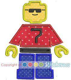 lego minifig applique