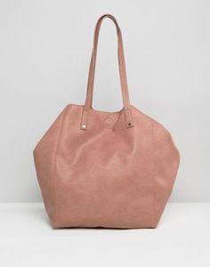 ASOS – Weiche Shopper-Tasche mit abnehmbarer Clutch