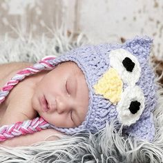 owl crochet hat!! Think I want the baby more than the owl.