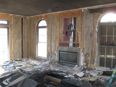 Fire damage clean up in a Sicklerville, NJ home