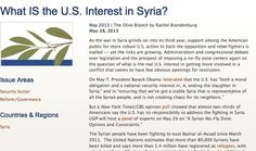 May 28, 2013 - ARTICLE - ANALYSIS - US - OBAMA ADMINISTRATION - Administration and congressional debate over legislation and the prospect of imposing a no-fly zone centers again on the question of what is the real U.S. interest in getting more involved in a conflict that seems to have few obvious openings for resolution.