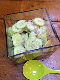cucumber salad  - sounds like a great one for summer.