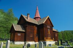 CHECK.  Rollag stave church, Buskerud