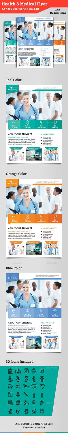 Health \ Medical Doctors Flyer Medical doctor, Flyer template - hospital flyer template