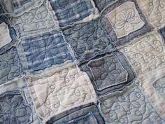 Raggy Denim Shirt Quilt http://craftysewingandquilting.blogspot.com/2011/06/quilts-in-my-home-denim-shirt-quilt.html