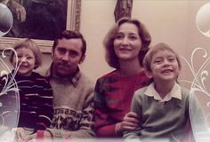 Lee with his parents and sister! My goodness, he looks just like his Dad! But I see his mom in him, too!