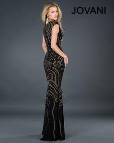 Jovani 73998 :: Art Deco 1920's Great Gatsby bridesmaids dress