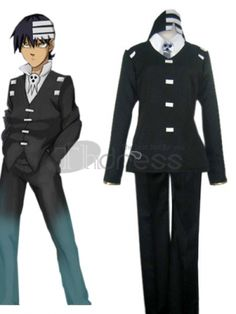 Wow, cool! Don't you want to be the Soul Easter death? This fantastic cosplay costume will do you a big favor! It includes a jacket, trousers, shirt and the unique headwear. The classic black and the white give this costume cool impression! The uniform cloth adopted, makes the costume much more durable! Absolutely, you will experience a unique feeling in this kid cosplay costume!
