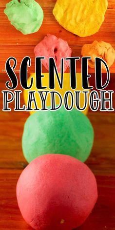 Scented Homemade Playdough. Just a few pantry ingredients are needed to make This easy no-cook homemade playdough recipe. Easy Homemade Playdough Recipe, Fall Scents, Play Doh, Pantry, Watermelon, Fruit, Cooking, Tips, Goodies