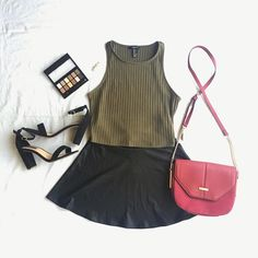 Birthday black leather skirt outfit. Red forever new bag.  A lil leather skirt combo.❣️ Top: @forever21 || Skirt: @forever21 || Sling bag: @forevernew_official || Shoes: @dorothyperkins • • • #outfitoftheday #casualoutfit #tribalchic #offtheshoulder #whitedenim #instastyle #l4l #bohemianstyle #bohemianfashion #carltonlondon #clothingrequest