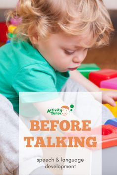 Children need five foundational pre-talking skills before they start using words themselves. We'll take a look at each language development skill for infants and toddlers and show parents how to practice it during their everyday routines.