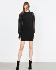 Image 1 of CREPE SLEEVE DRESS from Zara