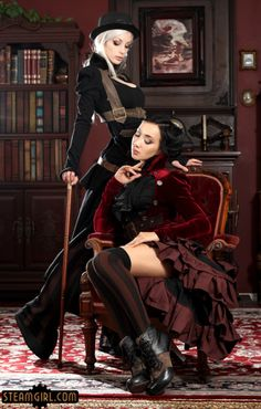 Today's Tuesday Tidbit, let's take a look at the richly colored set, 'Courtship' starring two gorgeous ladies, Kato and Katsuni. Not only are they beautifully poised in this shot, they are well dressed. And many of you that have followed Kato for a long time will recognize those clothes very well. That's right, they are Kato's own designs from Steampunk Couture.But that's not all! The beautiful detailing in the decor seen in the background is also he...