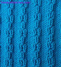 Ear knitting stitches