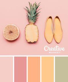 Summer Color Palettes, Color Schemes Colour Palettes, Pastel Colour Palette, Colour Pallette, Color Palate, Summer Colors, Pastel Colors, Spring Color Palette, Orange Color Palettes