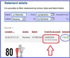 Look at these new 80th amazing withdrawal daily proof from Adclickxpress. ACX just cannot stop paying me, and paying me… There is no any other program on the web, like ACX. It is easy; you don't need previous experience with online programs on the web. You just need to log in, click and collect your money! With ACX you can withdraw your commission daily! http://bit.ly/1JxIgQY