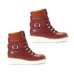 The Indecisive Girl's Guide To Fall Footwear | The Zoe Report The High Fashion Hiking Boots, Zara $159