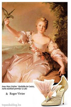 Painting by Jean-Marc Nattier, shoes by Roger Vivier