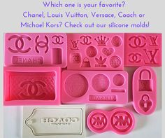 #Chanelsiliconemold #LouisVuittonsiliconemold  #Versacesiliconemold #Coachsiliconemold #MichaelKorssiliconemold  http://www.itacakes.com/product-category/silicone-molds/fashion-molds/