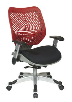 5200w 9 space task chair red mesh fabric seat and back tilt lock