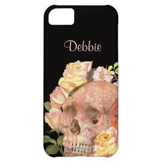 An awesome sugar skull, day of the dead zombie design in shades of pink, peach and black, looks real cool on these quality phone cases and so easy to personalize with your name. #sugar #skull #skulls #day #of #the #dead #goth #zombie #zombies #pink #peach #roses #flowers #hipster #cool #funky #cases #case #cover #covers #shell #shells #mobile #cellphone #phone #smartphone #iphone