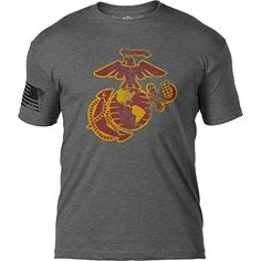 On this t shirt we've completely re-illustrated the sacred emblem of our beloved US Marine Corps and distressed it to perfection. This shirt is printed with super-soft inks to give a truly vintage feel. Marine Corps T Shirts, Usmc T Shirts, Branded T Shirts, Usmc Clothing, Patriotic Tee Shirts, Mode Outfits, Tees, Mens Tops, Star Spangled