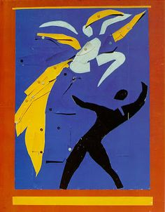 Henri Matisse- Two Dancers 1938. The two people dancing and the yellow are the positive space and the background is the negative.
