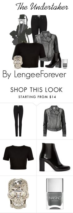 """""""The Undertaker"""" by niley12345 on Polyvore featuring Paige Denim, Vero Moda, Ted Baker, Yves Saint Laurent, Alexander McQueen, Nails Inc., denim, anime and BlackButler"""