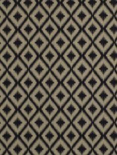 Ikat Upholstery Fabric Black