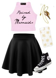"""Summer outfit #2"" by forestunicorn ❤ liked on Polyvore featuring Converse and Sonix"