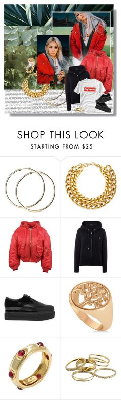 """Gold on my necklace, gold on my wrists"" by clampigirl ❤ liked on Polyvore featuring A.V. Max, Vetements, Polo Ralph Lauren, Ash, Allurez, Tiffany & Co. and Kendra Scott"