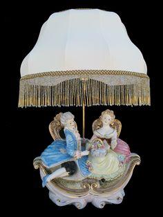 Capodimonte Figurine Lamp