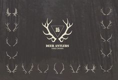 16 Deer antlers vector by Julia Dreams on @creativemarket