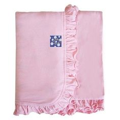 Kickee Pants Girls Stroller Ruffle Blanket, Lotus