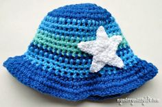 My Merry Messy Life: Crochet Ocean Sun Hat with Star Fish - Free Pattern!