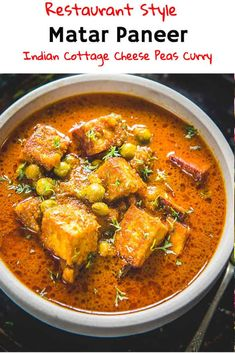 Matar Paneer Recipe is a simple everyday Indian recipe made using Indian cottage cheese and peas. It goes very well with Indian breads or Pulao. Mattar Paneer Recipe, Paneer Curry Recipes, Easy Paneer Recipes, Easy Indian Recipes, Gujarati Recipes, Vegetarian Cooking, Vegetarian Recipes, Cooking Recipes, Paneer Cheese