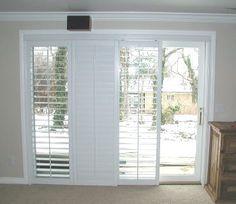 Plantation Shutters on sliding glass door - for family room, to cover triple slider and double slider