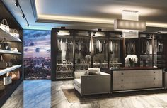 luxury walk in closet pictures