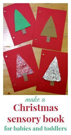 Make a Christmas sensory book for your baby!