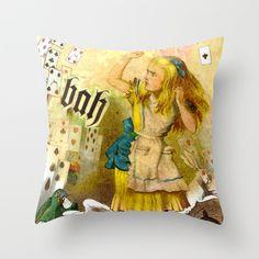alice annoyed Throw Pillow by karen owens - $20.00
