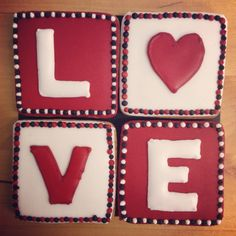 LOVE Letters (bag of 4 large squares)